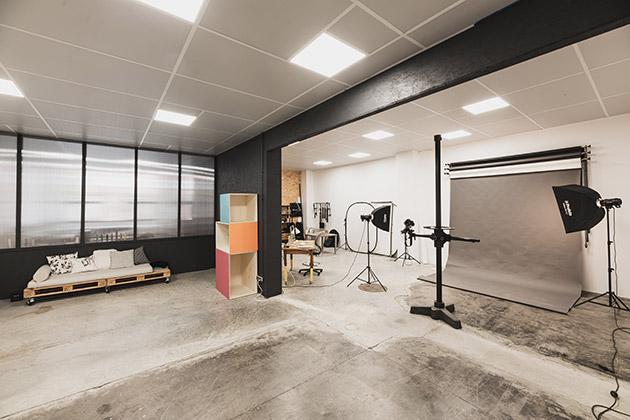 Studio tout équipé pour shooting photo